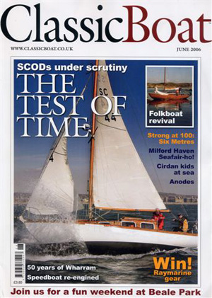 The Maid on the Front Cover of Classic Boat Click to see a video of the photo shoot