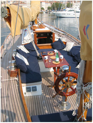 Be the envy of all those ashore as you sip G&T's in the cockpit